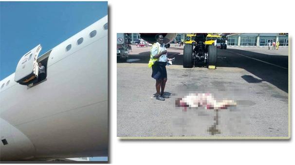 Hostes uçaktan düştü!