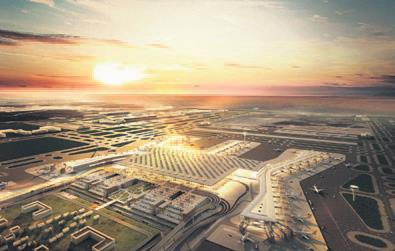 Yeni Havalimanı'nda ticari alanlara yoğun ilgi