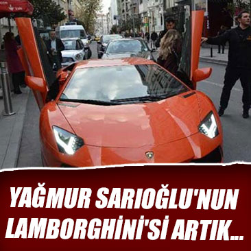 Yağmur Sarıoğlu'nun Lamborghini'si artık düğün arabası oldu