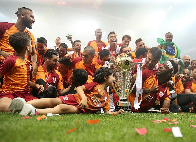 Galatasaray'da şampiyonluk partisi