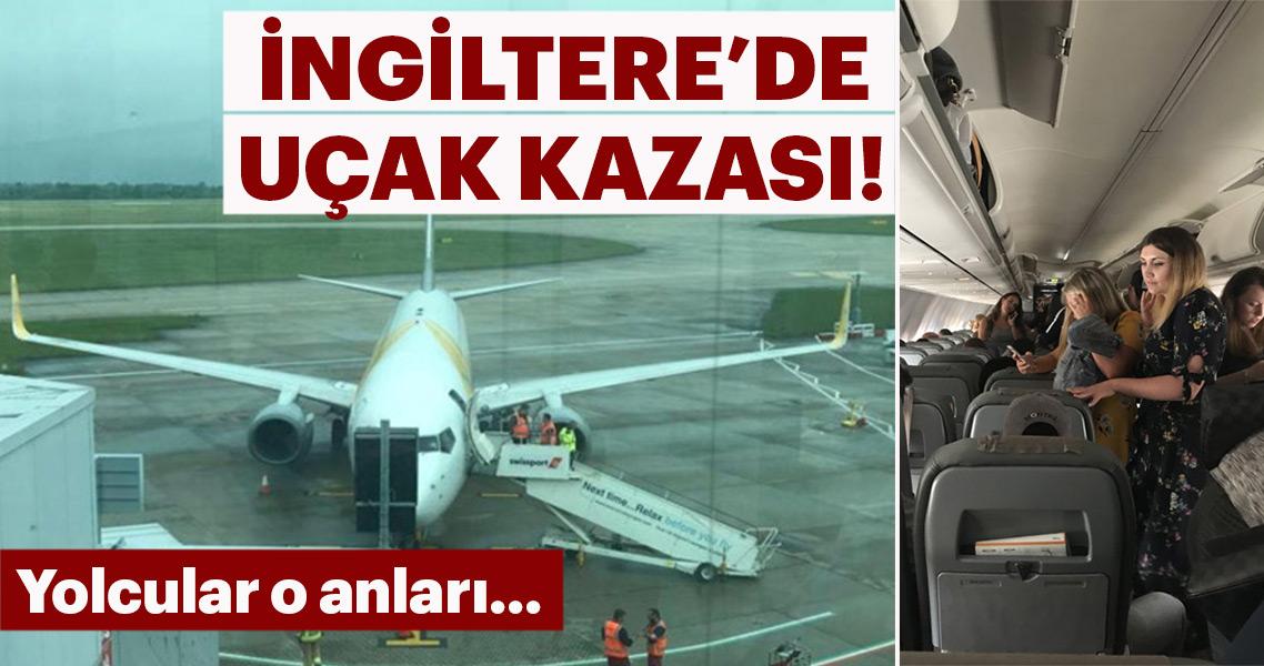 Uçaklar pistte çarpıştı!