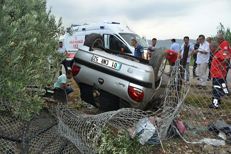 Adana'nın Kozan ilçesinde trafik kazası: 1 yaralı