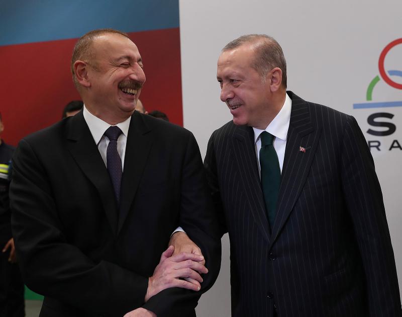 Erdoğan, Aliyev ile görüştü