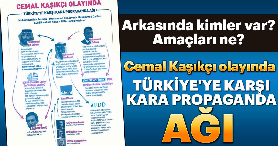 İşte Cemal Kaşıkçı olayında Türkiye'ye karşı kara propaganda ağı