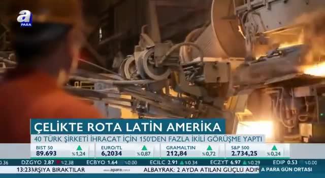 Türk çelik sektörü, rotayı Latin Amerikaya kırdı