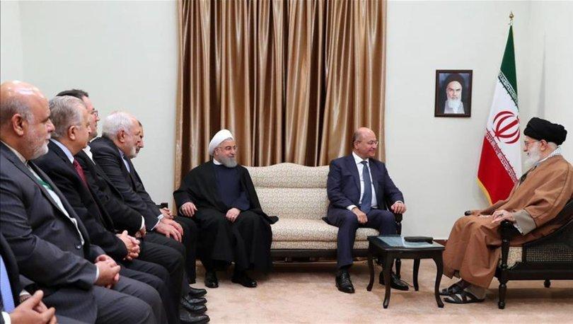 Irak Cumhurbaşkanı Salih, Hamaney ile görüştü!