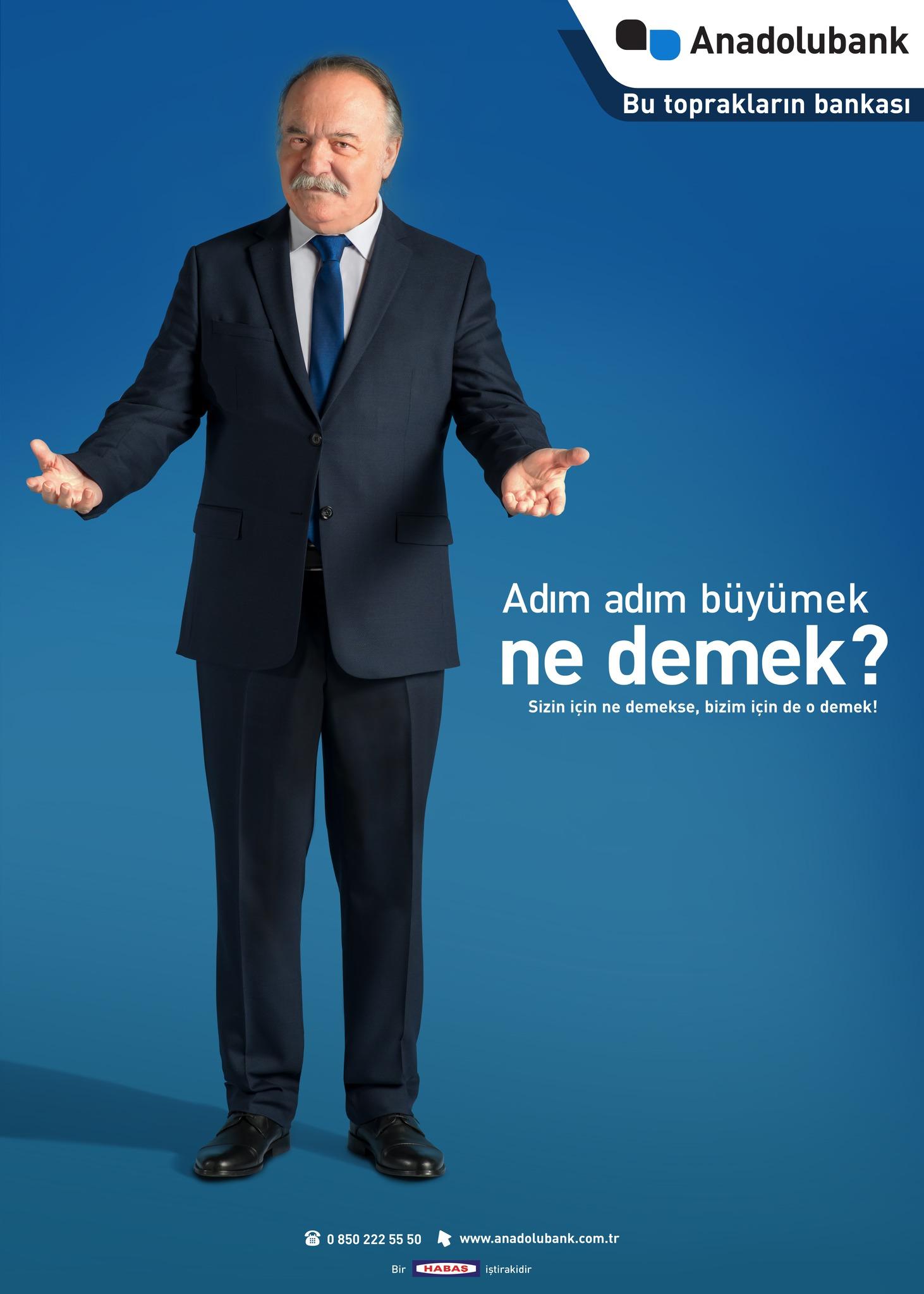 Anadolubank'ınreklam kampanyası yayında