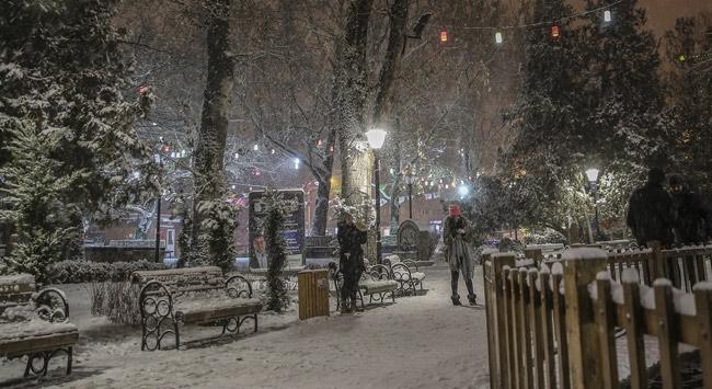Başkentte kar yağışı etkili oldu