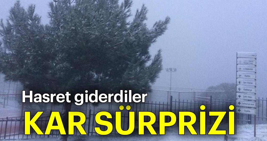Son dakika: İzmir'de kar sürprizi