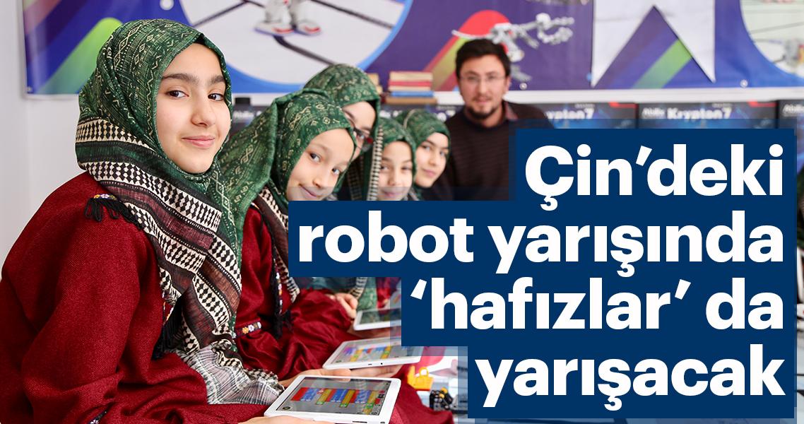 Çin'deki robot yarışmasında 'hafızlar' da yarışacak