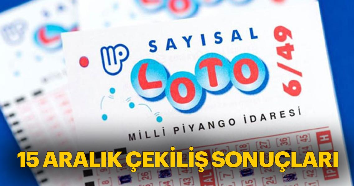 Sayısal Loto çekiliş sonuçları açıklanıyor! MPİ Sayısal Loto 15 Aralık bilet sorgulama – Son dakika haberler
