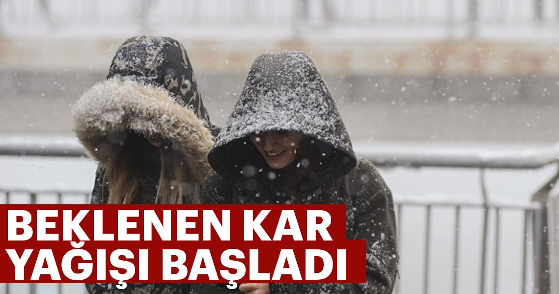 Son dakika: Meteoroloji uyarmıştı! Kar yağışı Edirne'den giriş yaptı