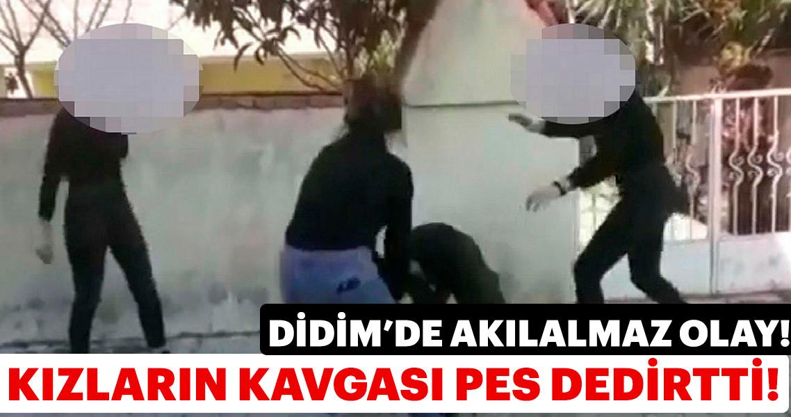 Didim'de kız öğrencilerin kavgası pes dedirtti