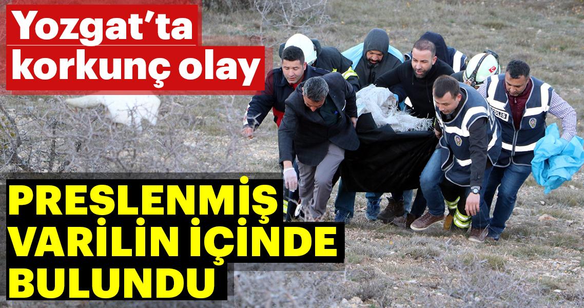 Yozgat'ta korkunç olay! Preslenmiş varil içerisinde bulundu