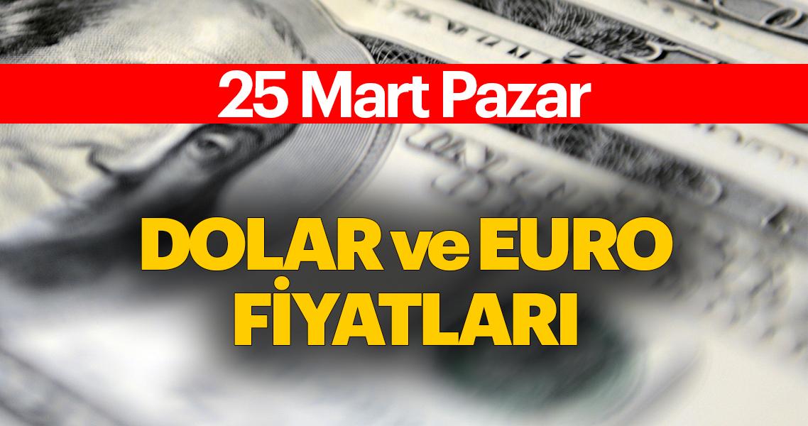 Dolar fiyatları ile ilgili son dakika haberi: Dolar bugün ne kadar? Güncel dolar ve euro döviz kurları 24 Mart Pazar