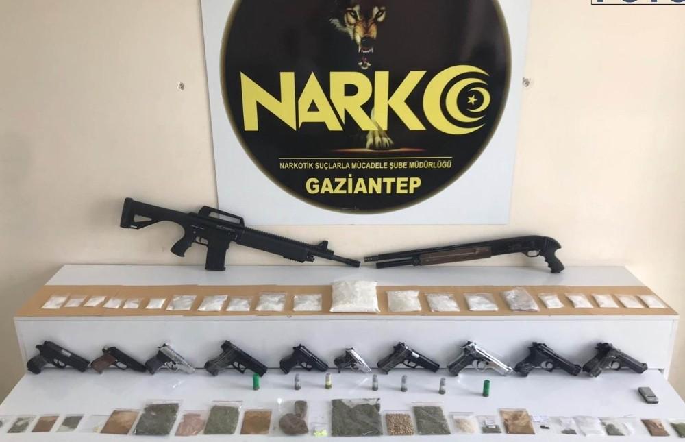 Gaziantep emniyetinden dev uyuşturucu operasyonu