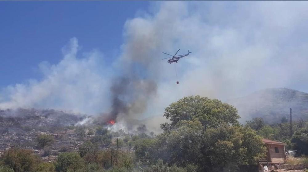 Marmaris'te makilik alanda yangın