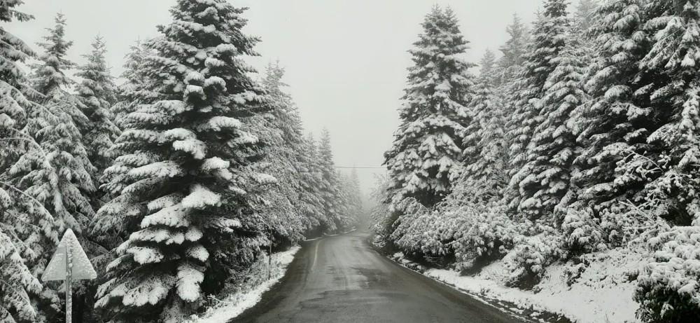 23 Mayıs'ta yağan kar şaşırttı: Ordu'dan kar manzaraları