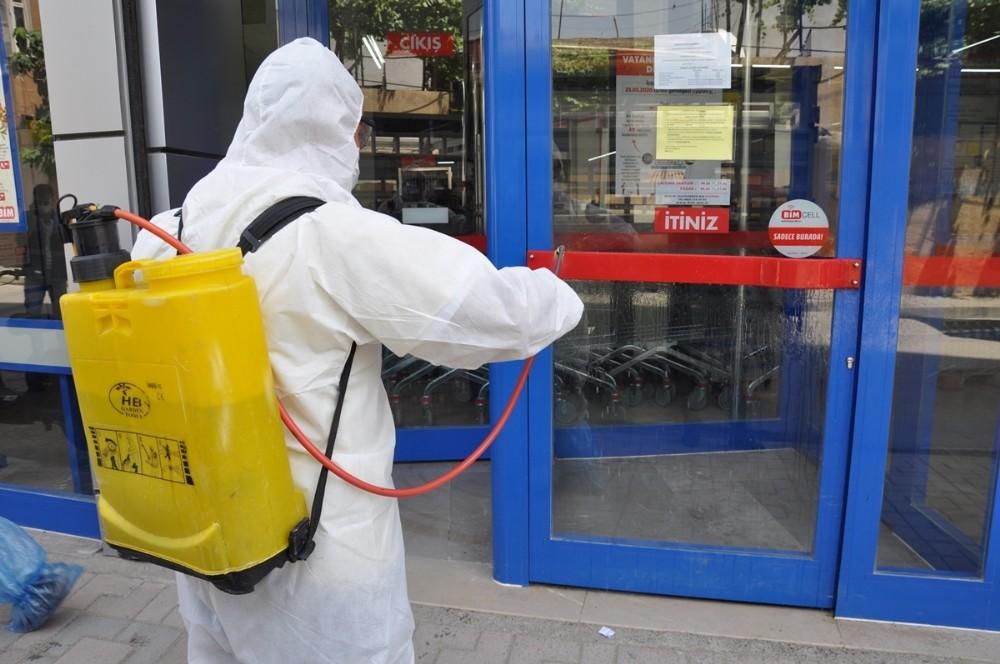 Cizre'de dezenfekte çalışmaları sürüyor
