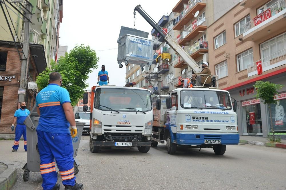 Yıldırım'da cadde ve sokaklar bayrama hazır
