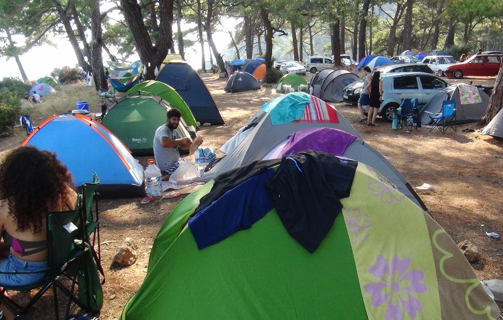 Virüs sonrası çadır turizmine rağbet