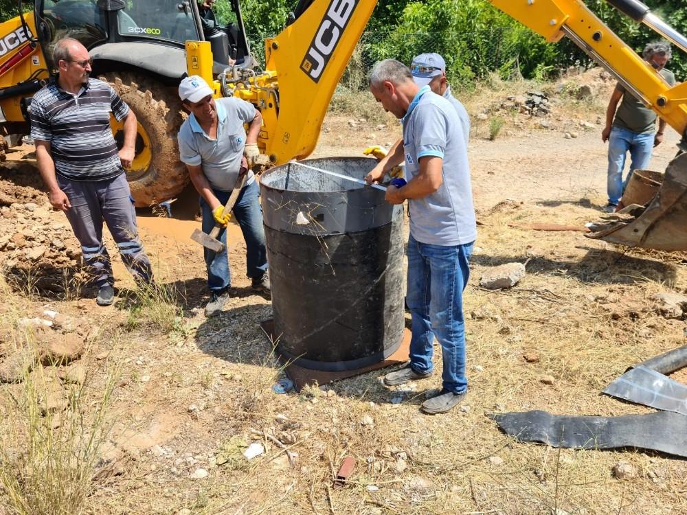Döşemealtı'nda ana içme suyu hattının bakım ve onarımı tamamlandı