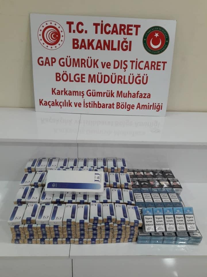 Sınır kapısında 800 paket kaçak sigara ele geçirildi
