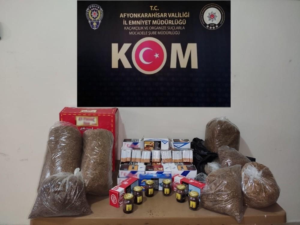Kaçak tütün operasyonunda 1 kişi gözaltına alındı