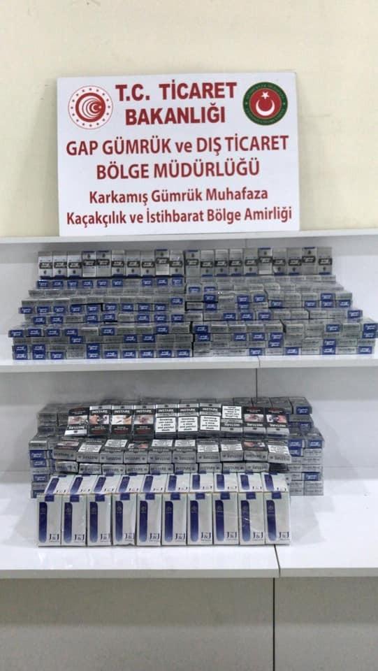 Sınır kapısında Bin 50 paket kaçak sigara ele geçirildi