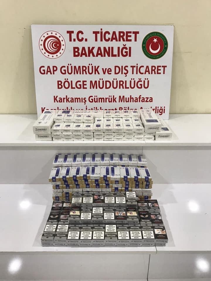 Sınır kapısında 910 paket kaçak sigara ele geçirildi