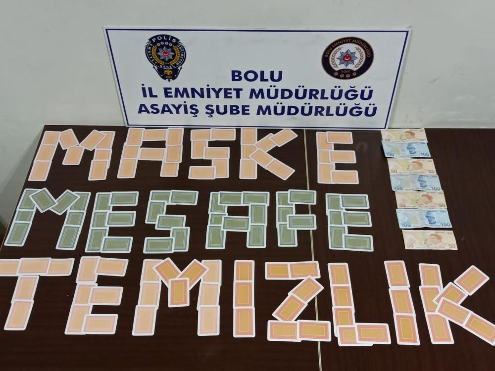 Bolu'da kumar oynayan 5 kişiye 28 bin lira ceza