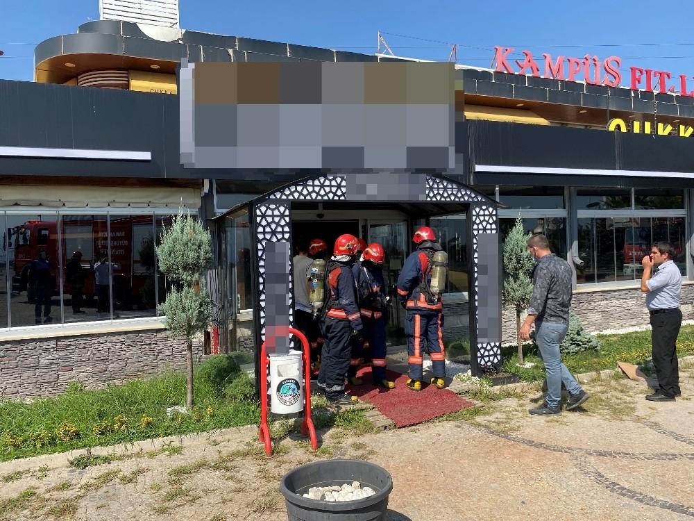 Sakarya'da bulunan bir işletmede çıkan yangın kısa süreli paniğe neden oldu