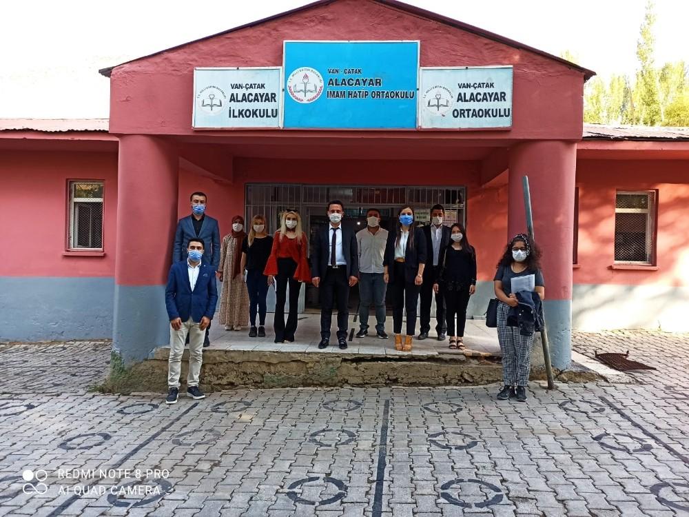 Çatak'ta okullar yüz yüze eğitime hazırlanıyor