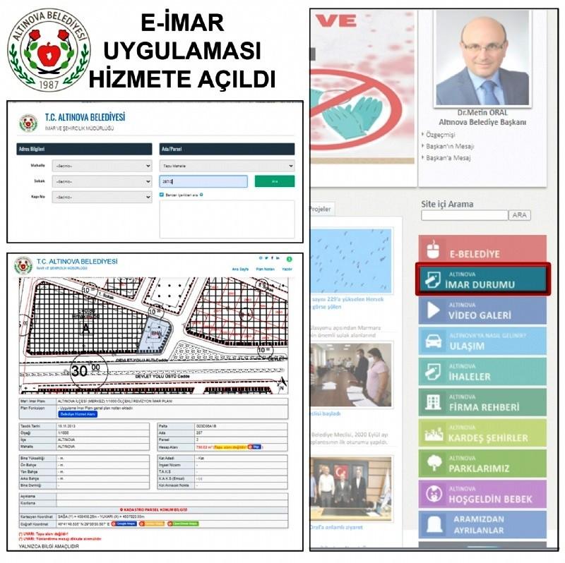Altınova'da e-imar uygulaması