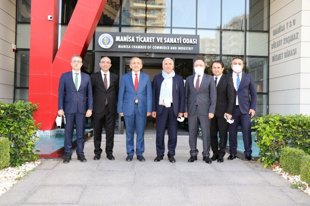 TBB Başkanı Aydın Manisa TSO yönetimiyle istişarede bulundu