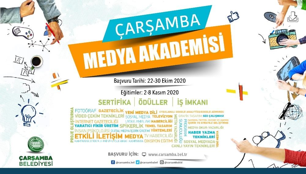 """""""Çarşamba Medya Akademisi"""" başvuruları başladı"""