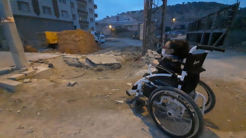 Mazıdağı'nda engelli vatandaşlara 'pano' engeli
