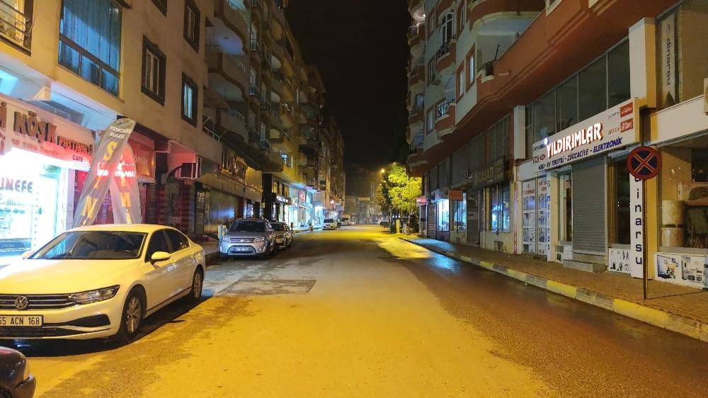 İslahiyeliler sokağa çıkma kısıtlamasına uydu