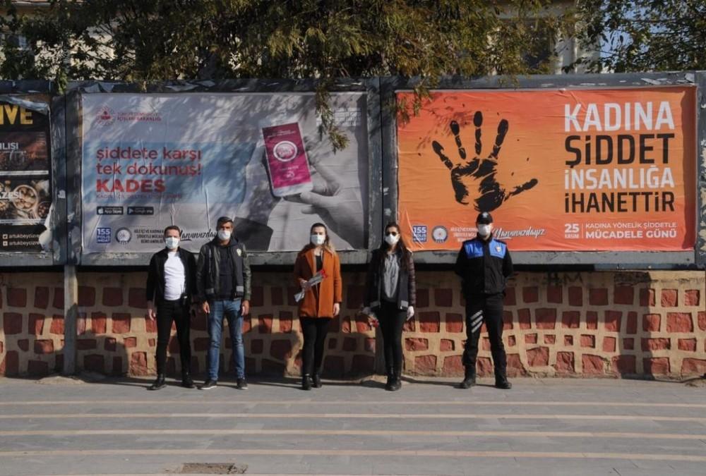 Cizre polisi kadınları bilgilendirip KADES'i tanıttı