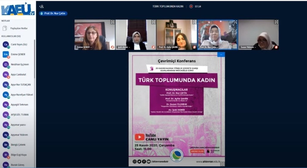 KAEÜ'de 'Türk Toplumunda Kadın' konulu panel düzenlendi