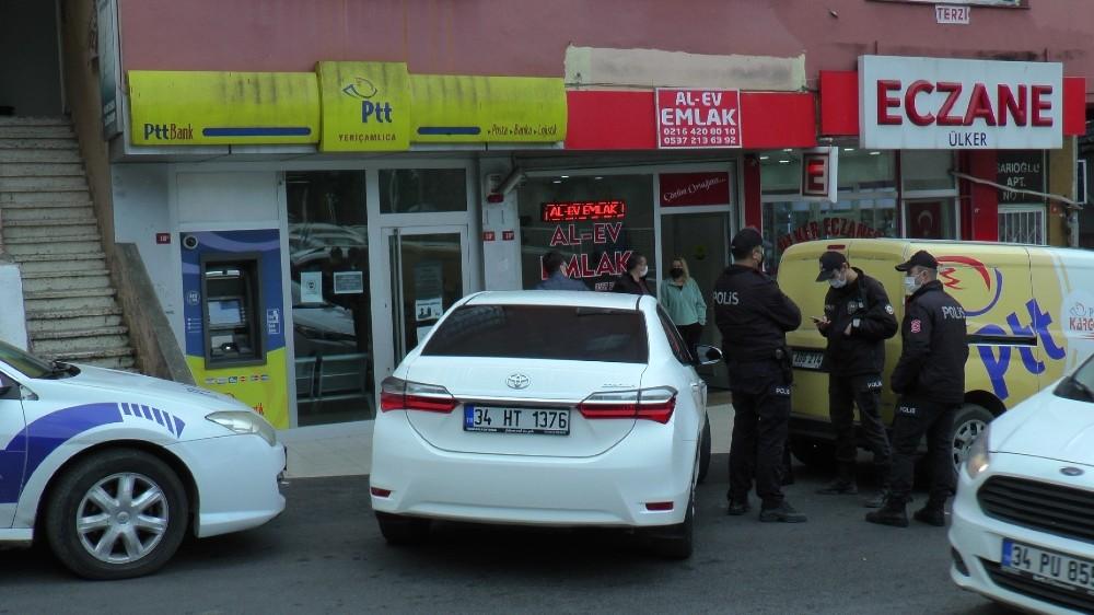Ataşehir'de PTT'ye silahlı soygun girişimi