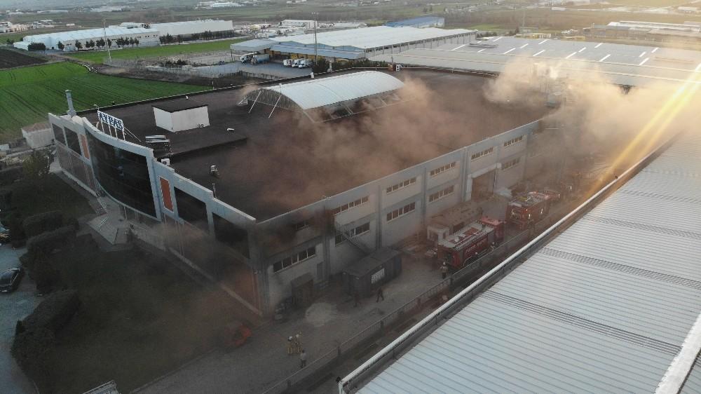 Çatalca'da saat fabrikasında yangın