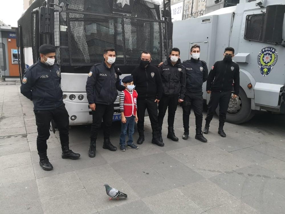 Özel Engelli çocuğun polis olma hayali gerçek oldu