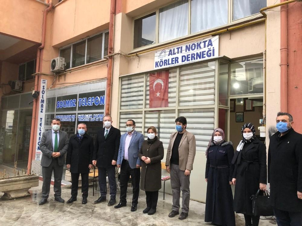 Kütahya AK Parti heyetinden Altı Nokta Körler Derneği'ne ziyaret