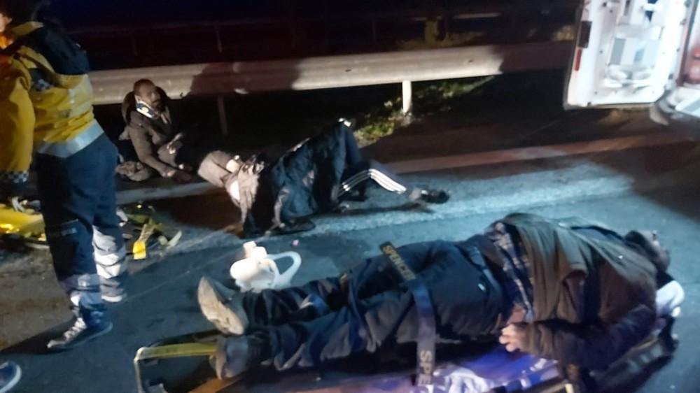Kırklareli'nde mülteci taşıyan minibüs kaza yaptı: 1 ölü, 21 yaralı