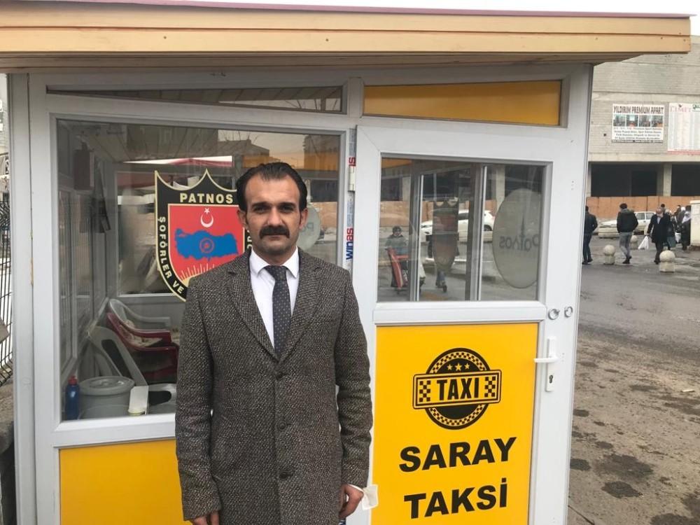 Patnos Şoförler Odası Başkanlığı , taksicilerin çalışma koşullarını iyileştirmek için ilçede olmayan taksi duraklarını yaptı.
