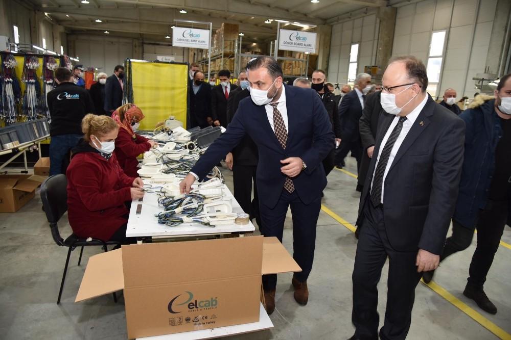Zonguldak Valisi Tutulmaz, Çaycuma OSB'ye ziyarette bulundu