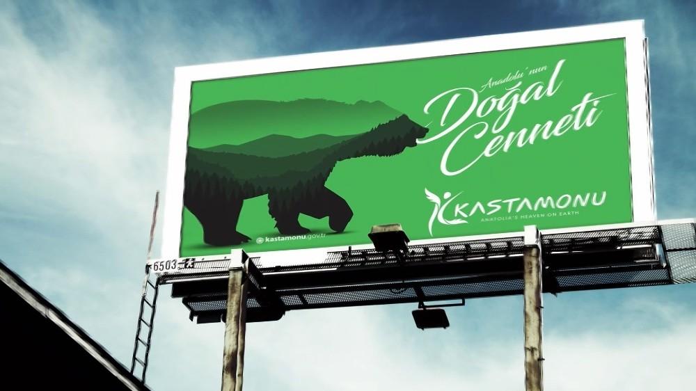 Kastamonu için hazırlanan şehir logosunda 'ayı' figürü kullanıldı