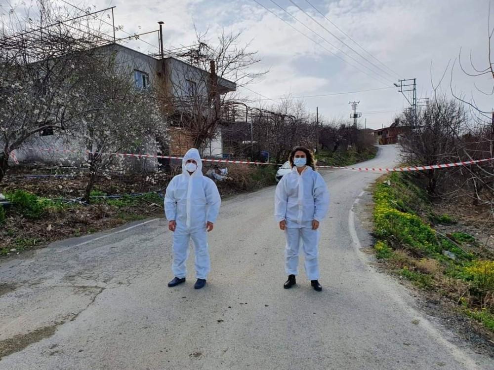Arsuz'da bir mahalle karantinaya alındı