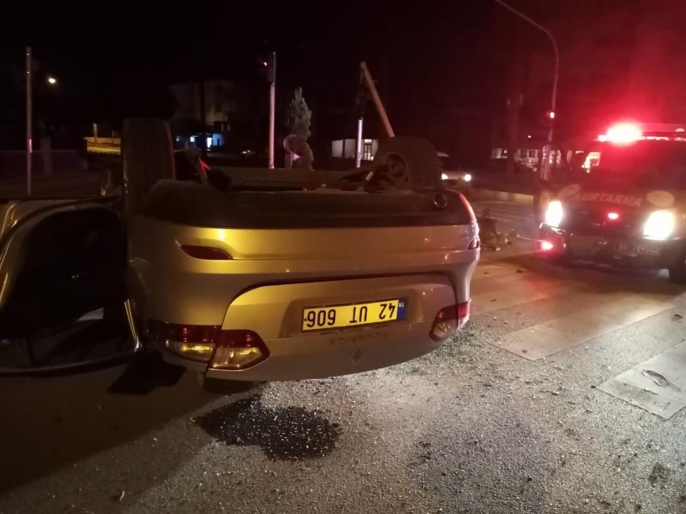 Cenazeye giderken kaza yaptılar: 3 yaralı